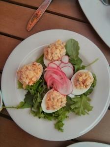 pimiento deviled eggs.