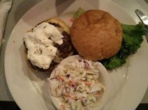 boxer burger & coleslaw.