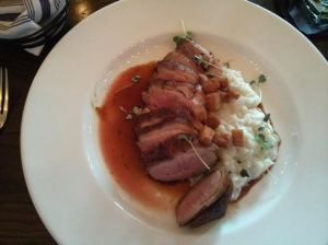 crispy 'culver farms' duck breast.