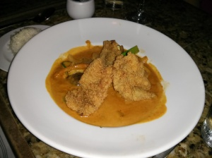 red grouper thai curry.