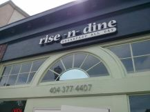 rise n dine sign
