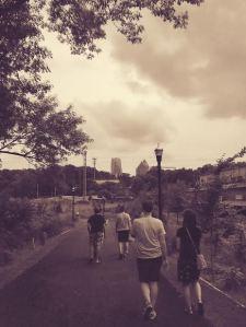 strolling.