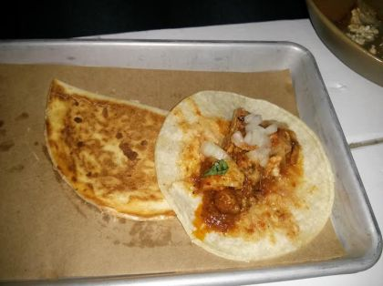 taco and quesadilla