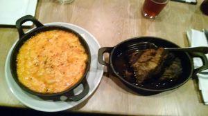 mac 'n cheese & brisket.