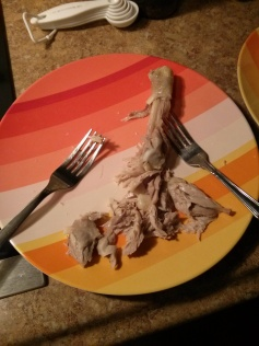 shredding with forks was WAY too tedious. get your hands dirty!