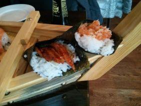 sushi cones.