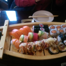 all the sushi is ours!