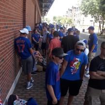 line for the bleachers.