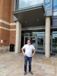 phillip in front of the union.