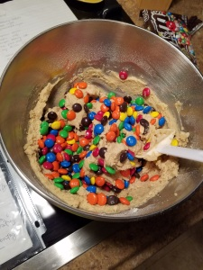 the cheeriest cookie batter there ever was!