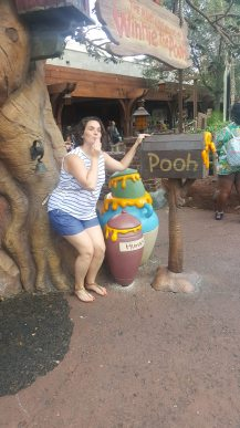 that's me, impersonating pooh eating hunny.