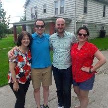 aunt cindy, kyle, clark, kelsey.
