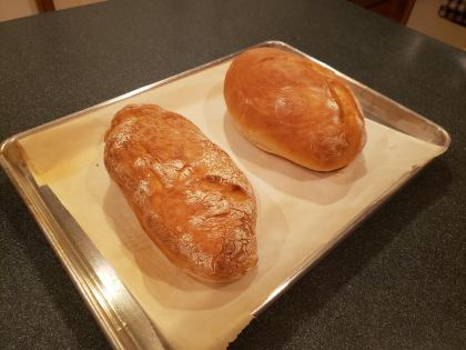 mom and i baked up some bread.